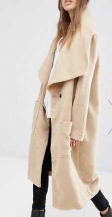 Religion Drape Front Dresser Textured Coat
