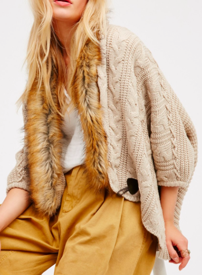 Hot Toddy Cable Knit Kimono