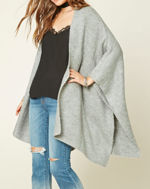 Forever 21 Heathered Knit Shawl