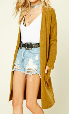 Forever 21 Wool-Blend Sweater Cardigan