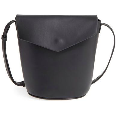 Street Level Faux Leather Envelope Bucket Bag