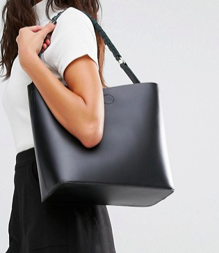 River Island Clean Leather Bucket Bag