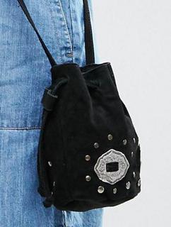 ASOS Suede Duffle Bag With Western Metal Trims