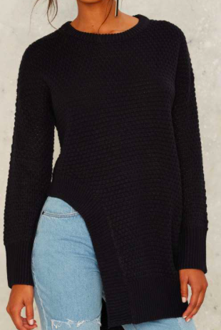 Nasty Gal Up in the Air Asymmetric Sweater