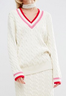 WAH LONDON x ASOS Cable Knit Cricket Sweater