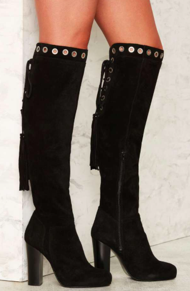 Nasty Gal Vanguard Suede Boot