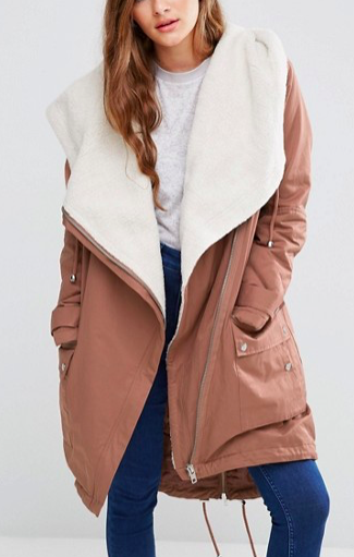 ASOS Waterfall Parka with Borg Lining