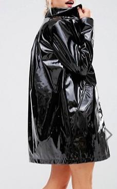 Monki Patent Coat