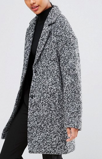 ASOS Coat in Cocoon fit and Textured Fabric
