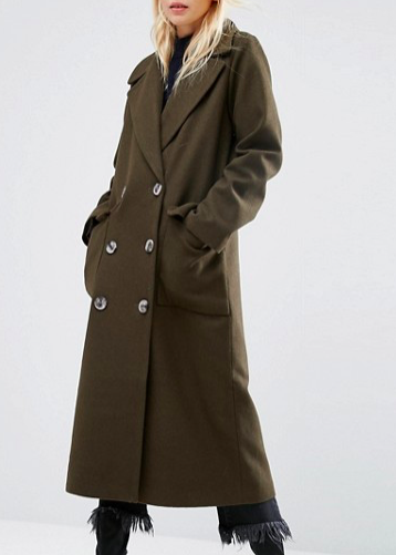 ASOS Coat with Oversized Styling