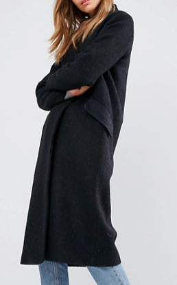 ASOS Oversized Coat in Textured Fabric