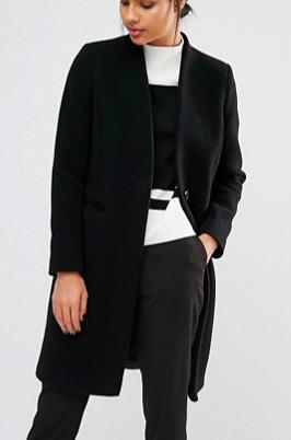 Whistles Aniko Collarless Coat