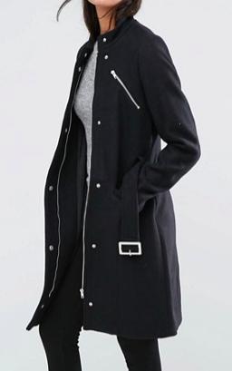 Y.A.S Alia Zip Front Tailored Coat