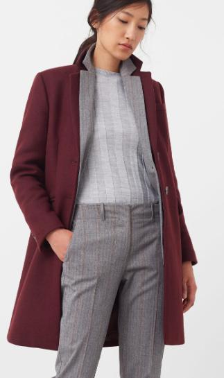 MANGO Wool straight-cut coat
