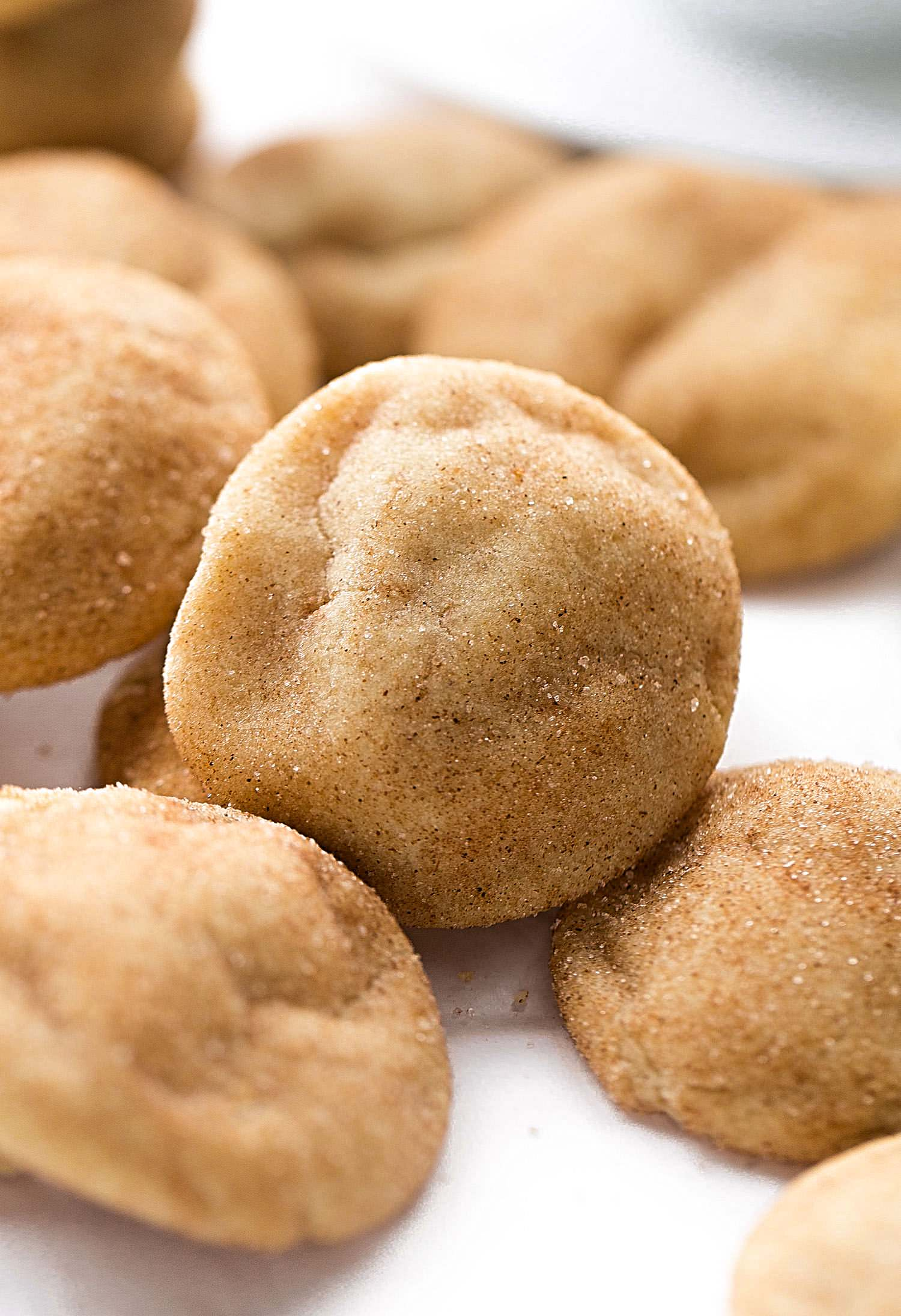 Brown Butter Snickerdoodle Cookies: easy, rich, thick, soft, chewy snickerdoodle cookies full of caramel flavor from the browned butter! | TrufflesandTrends.com