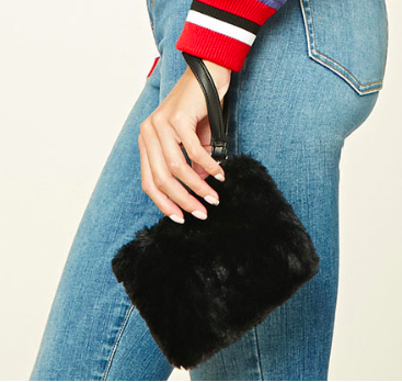Forever 21 Faux Fur Clutch