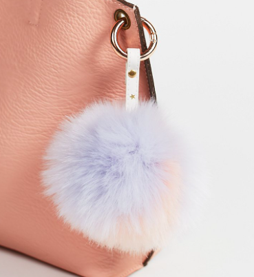 Multi Faux Fur Pompom Bag Charm
