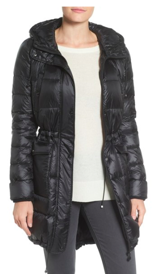 Packable Down & PrimaLoft® Fill Hooded Coat  BERNARDO