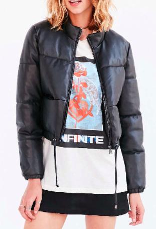 Silence + Noise Ezra Alt Vegan Leather Puffer Jacket