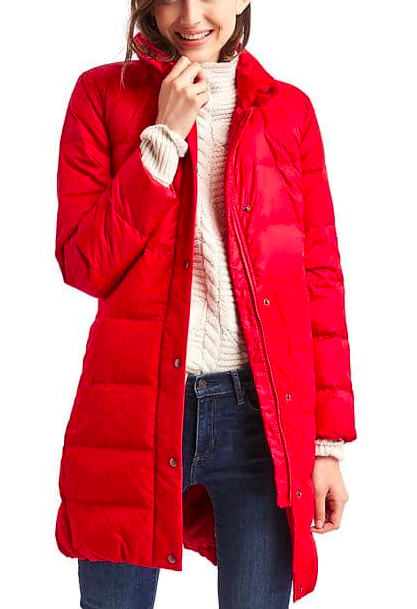 GAP Long down puffer coat
