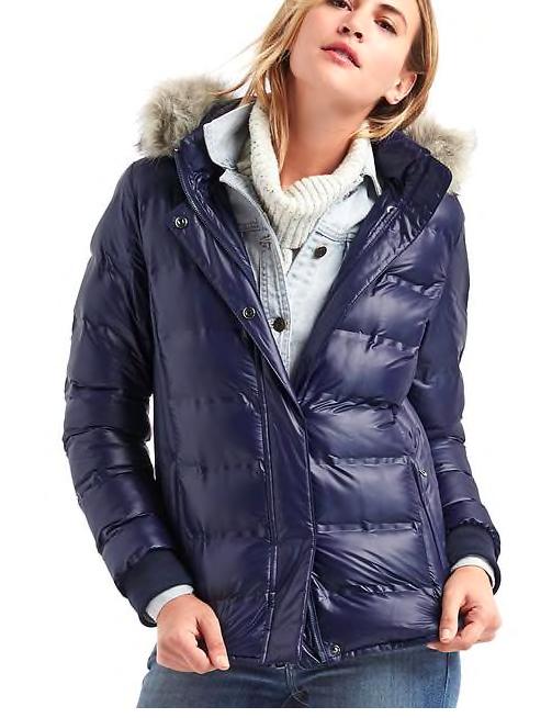 ColdControl Lite metallic ski puffer jacket