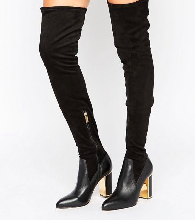 River Island Studio Suede Over the Knee Heeled Boot