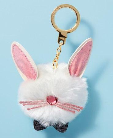 kate spade new york bunny pouf faux fur bag charm