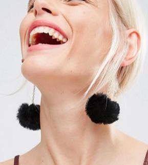 ASOS Pom Drop Earrings