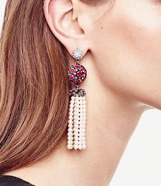Ann Taylor pearl tassel earrings