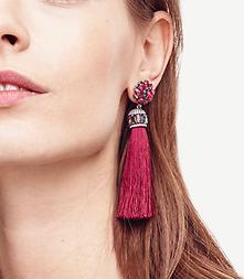 ann taylor silk tassel earrings