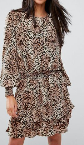 Y.A.S Tall Rush Animal Print Skater Dress