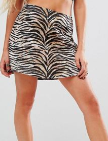 Motel Annie Skirt In Animal Print
