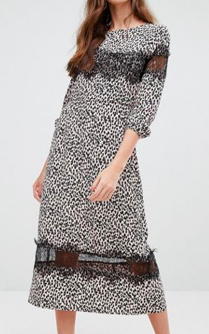 Millie Mackintosh Leopard Print Midi Dress