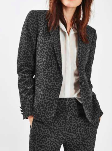 Topshop Animal Suit Jacket