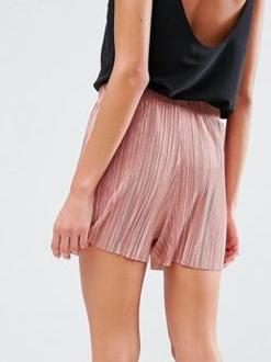 ASOS Pleated Plisse Shorts
