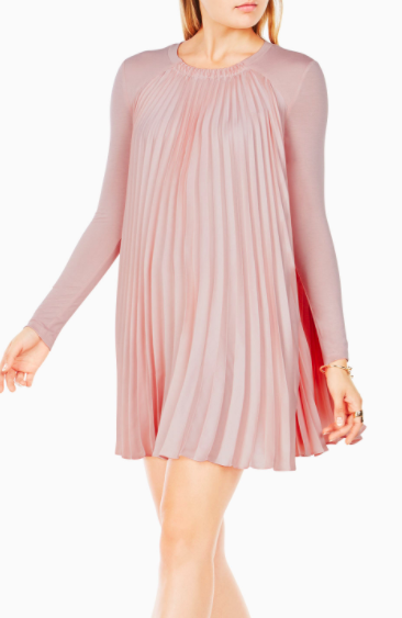 BCBG Cristina Pleated Dress