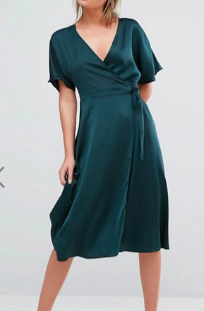 New Look Wrap Front Midi Dress