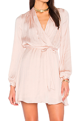 MIRANDA WRAP DRESS BARDOT
