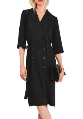 Topshop Double Breasted Wrap Midi Dress