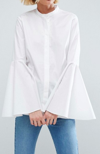 ASOS WHITE Shirt With Bell Sleeve