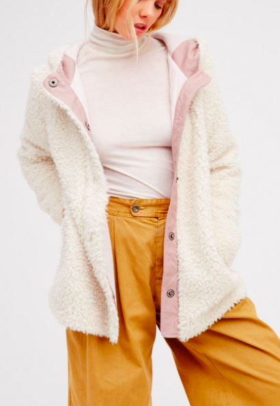 FP Sherpa and Knit Liner Coat