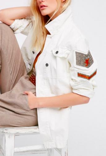 Embellished Military Shirt Jacket