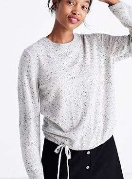 Madewell cashmere flare-sleeve crop sweater