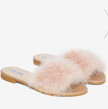 Valley Girl Feather Slide Sandal
