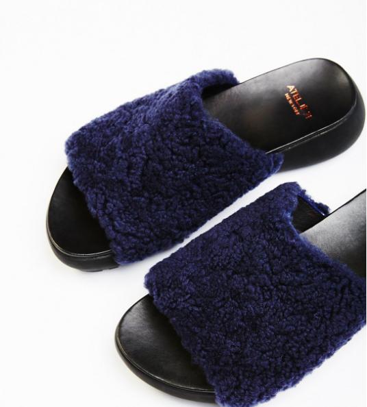 Rockwood Fur Slide Sandal