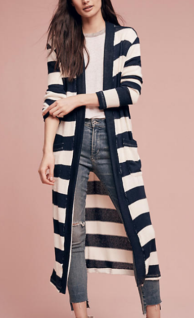 Rugby Stripe Duster by splendid