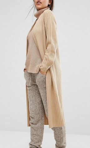 Micha Lounge Longline Ribbed Cardigan