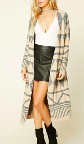 Forever 21 Tribal Pattern Cardigan