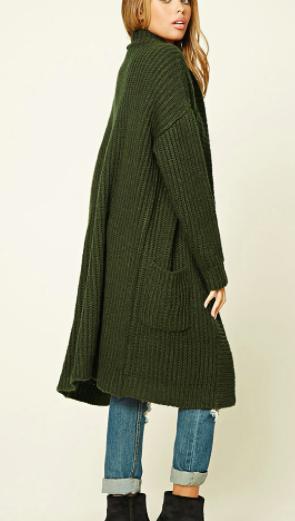 Forever 21 Longline Sweater Cardigan