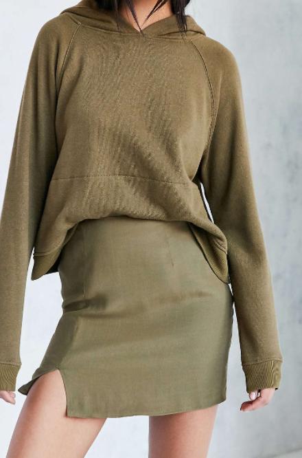 Silence + Noise Milana Side Notch Mini Skirt